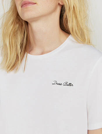 Organic cotton Dress Better T-shirt