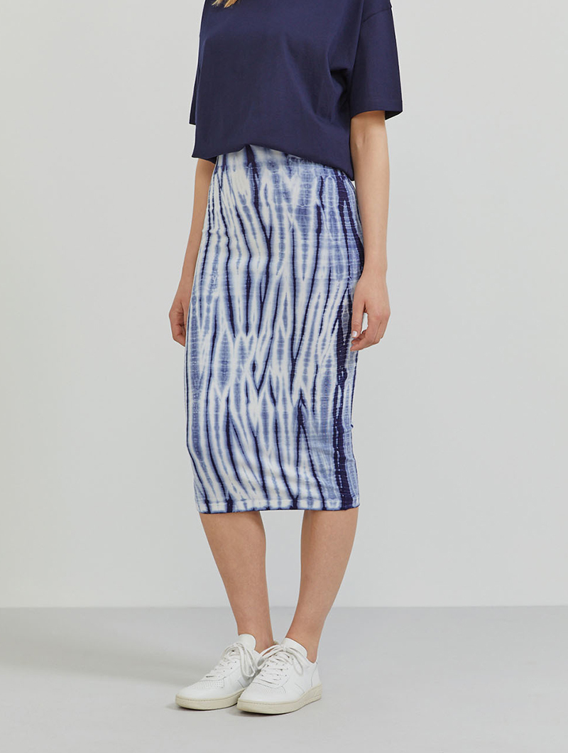 Tencel tie-dye tube skirt