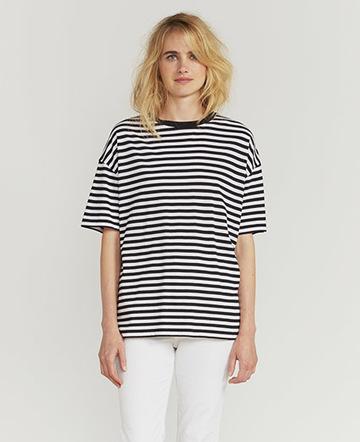 Striped oversized T shirt