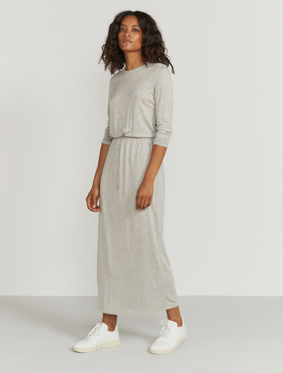 Drawcord waist maxi dress