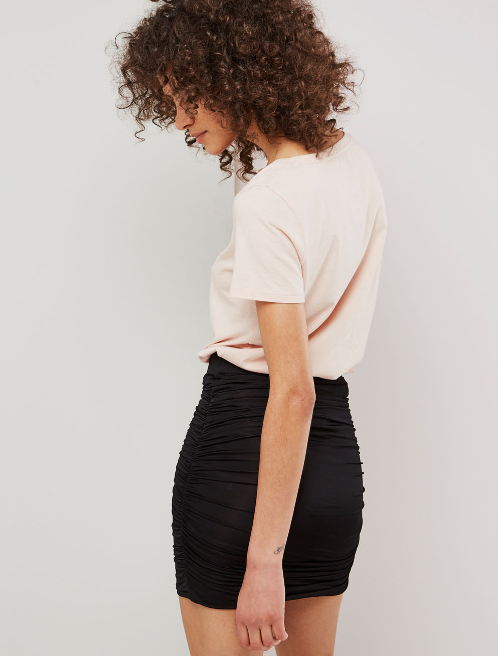 seam mini skirt