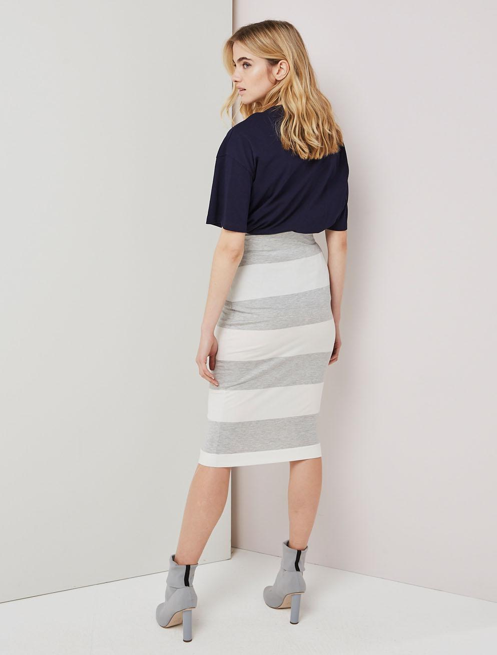 Wide stripe skirt