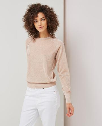 Metallic knitted sweatshirt