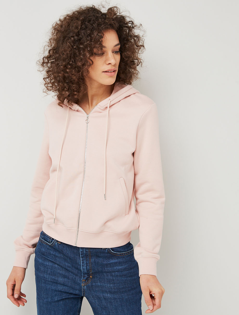 Paris zip front hoodie