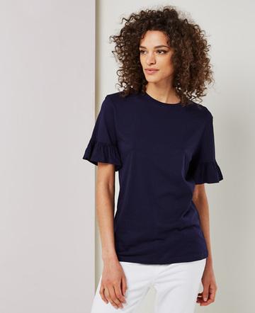 frill sleeve T shirt
