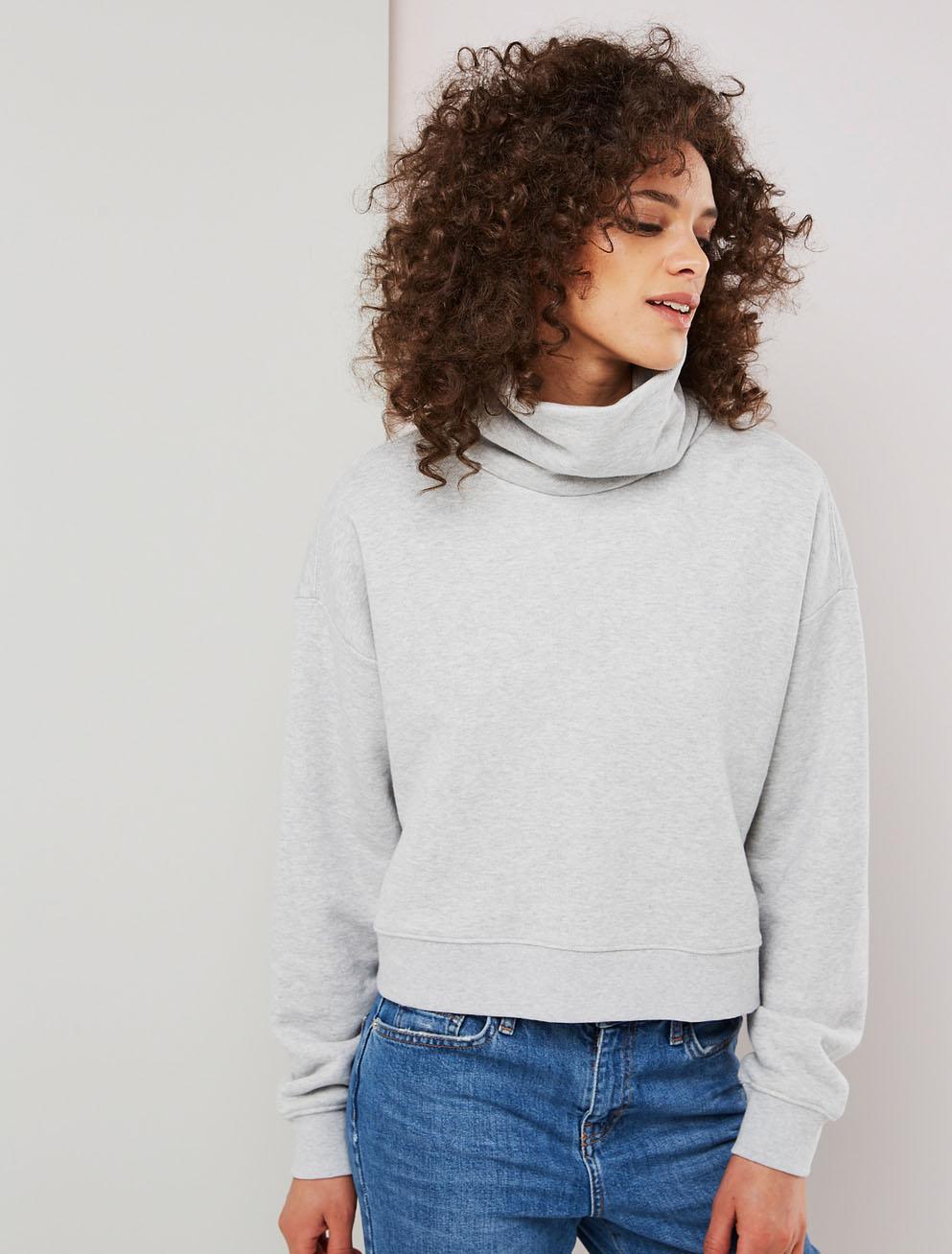 funnel neck sweatshirt