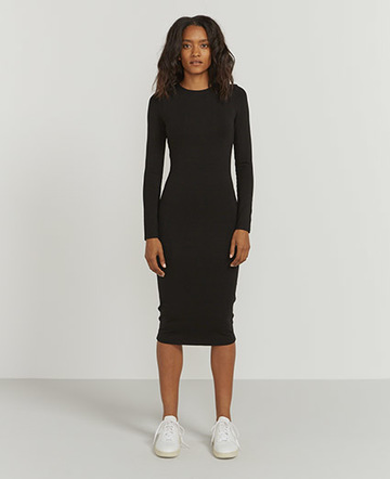 Bodycon stretch long jersey dress