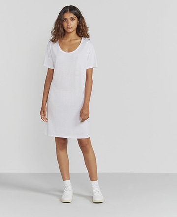 Scoop-neck T-shirt dress