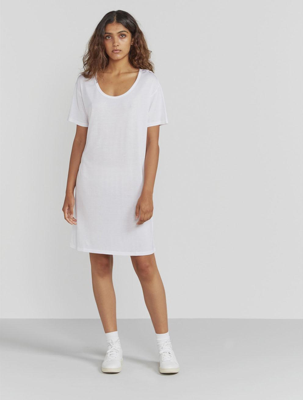Scoop-neck T-shirt dress