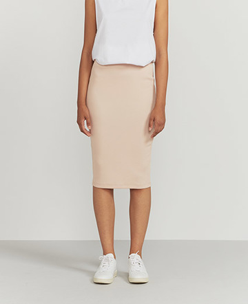 Ribbed stretch skirt