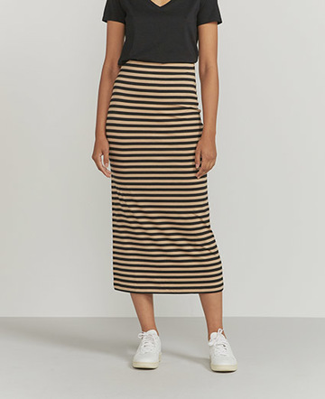 Striped column maxi skirt