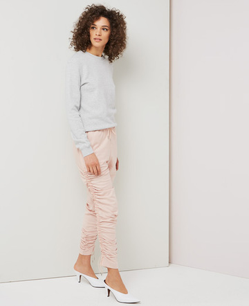Ruched drawcord trousers