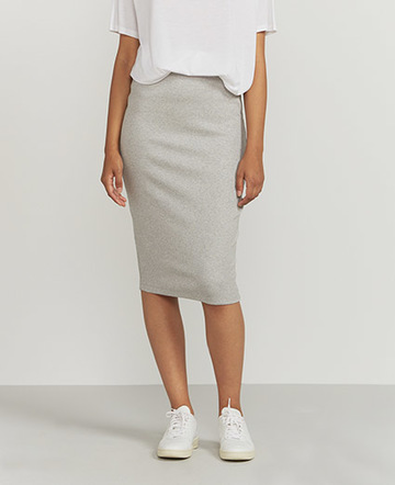Lurex ribbed skirt