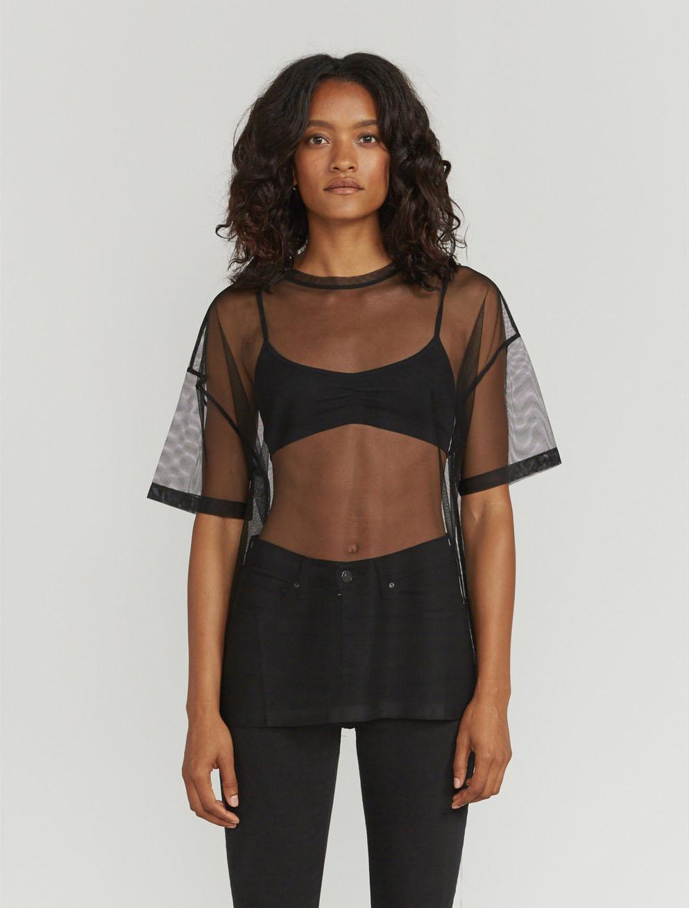 Tulle oversized T-shirt