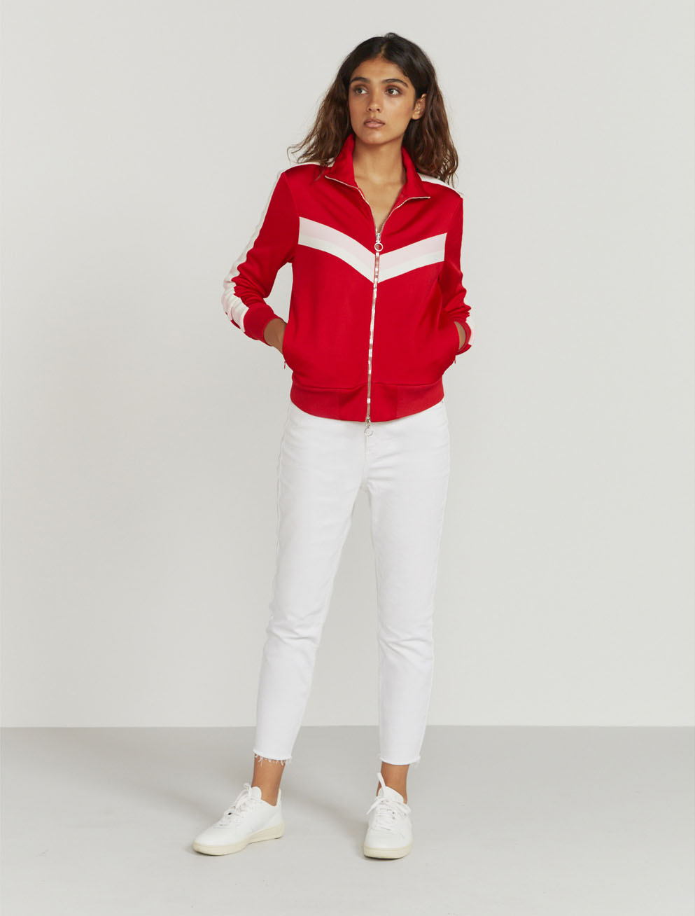 stripe track jacket