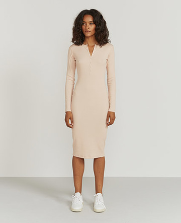 Ribbed Henley dress