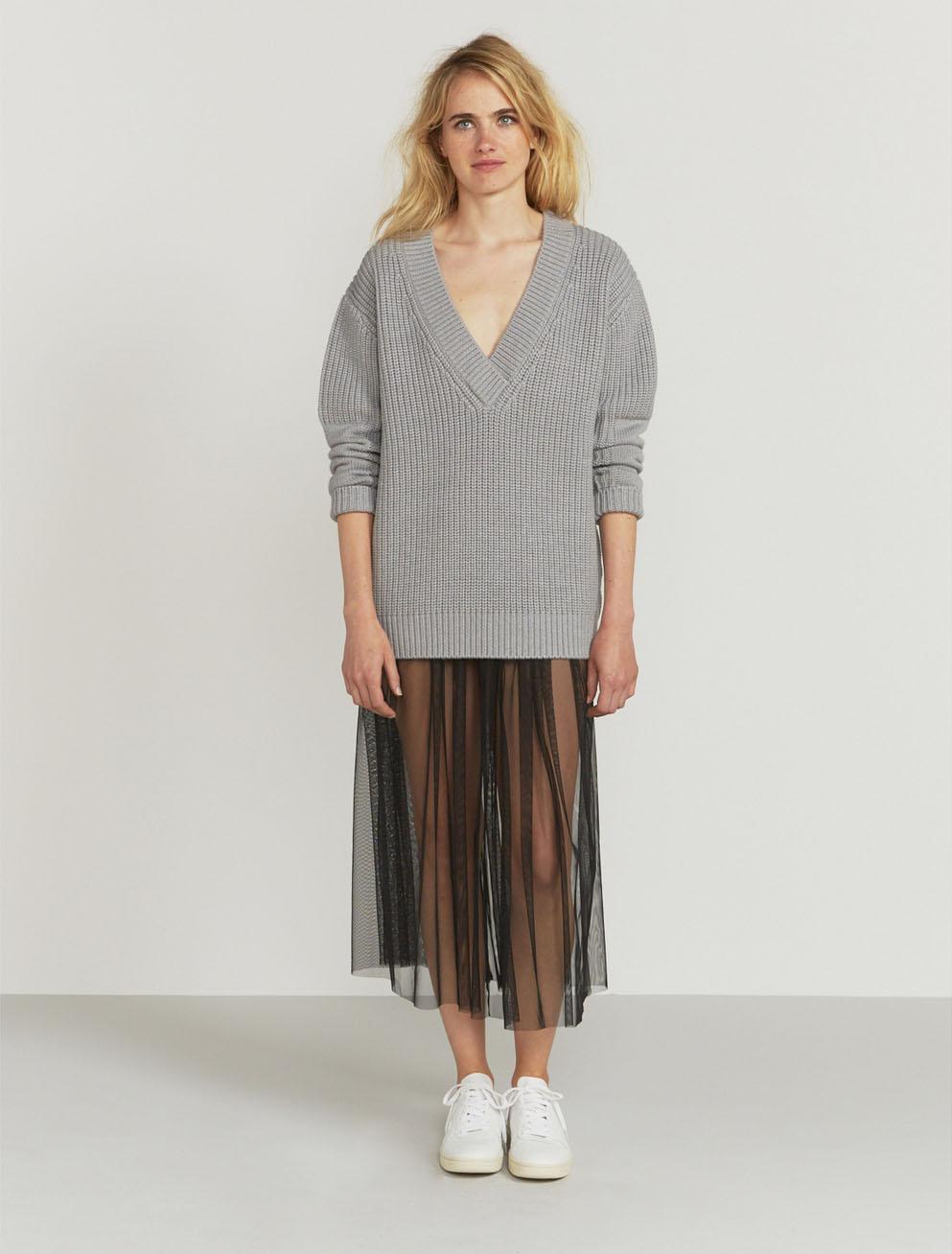 V-neck merino sweater