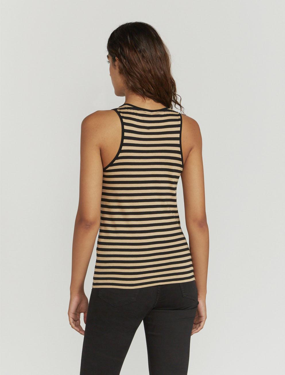Striped classic-fit vest