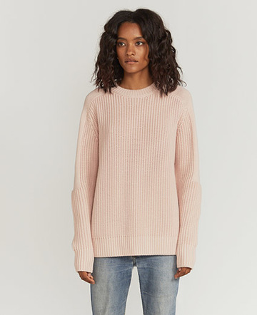 Tucked-rib oversized sweater
