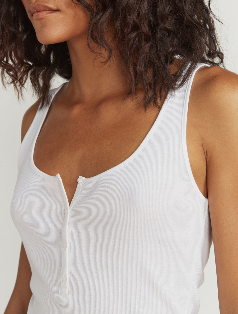 Kate ribbed button-front vest