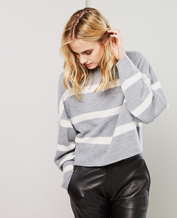 Striped cropped sweater