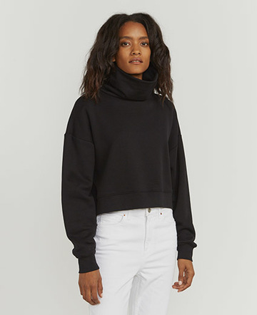 Tess funnel-neck sweatshirt