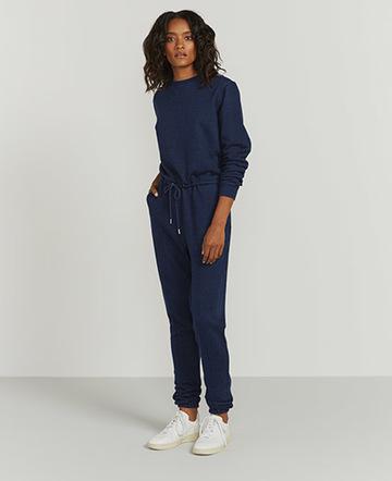 Indigo zip-back jumpsuit
