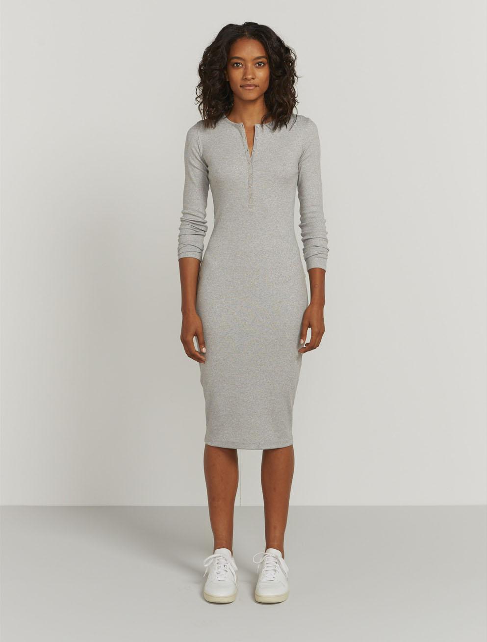 Lurex Henley dress