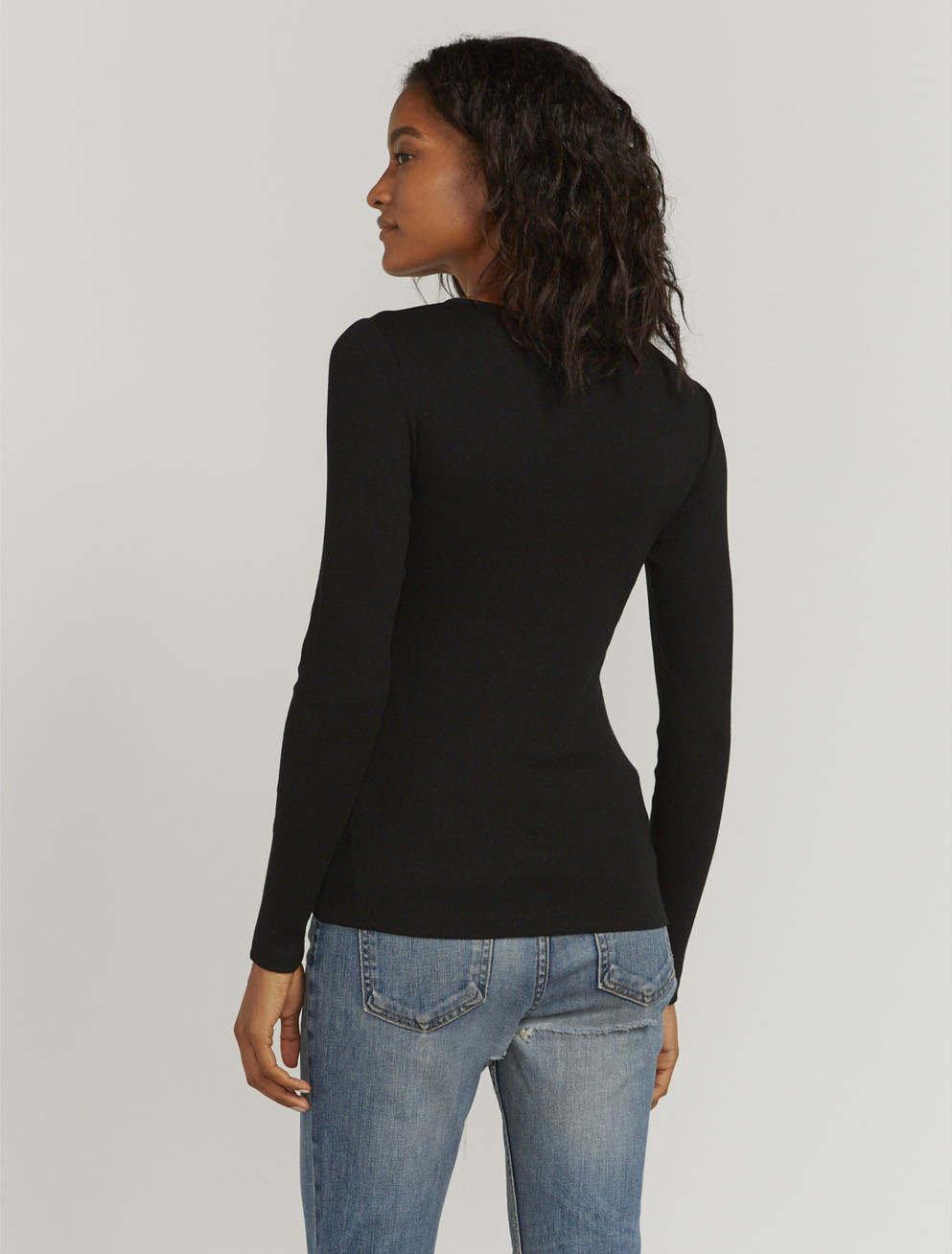 Bodycon Henley