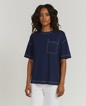 Indigo oversized T-shirt