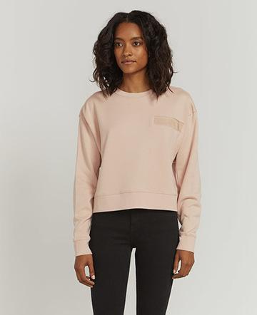 Utility pocket-front sweatshirt
