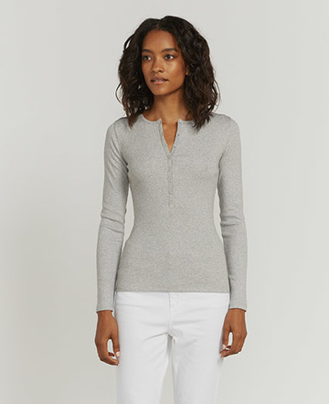 Lurex Henley top