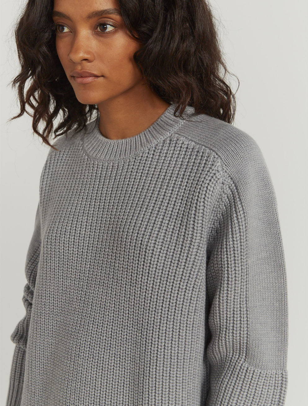 a8851a921ff32c Tucked-rib oversized sweater ...