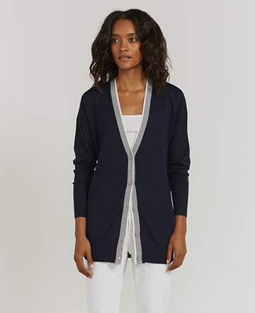 Deep V-neck cardigan