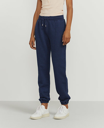 Indigo straight-leg sweatpants