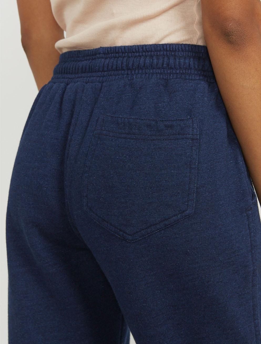 Indigo straight-leg sweatpants