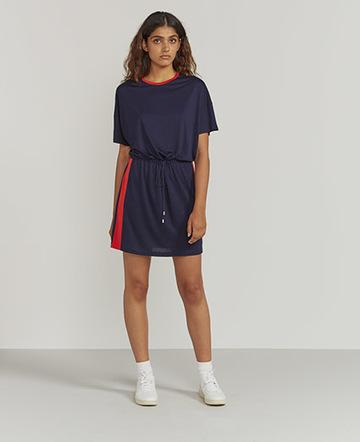 Side-stripe T-shirt dress