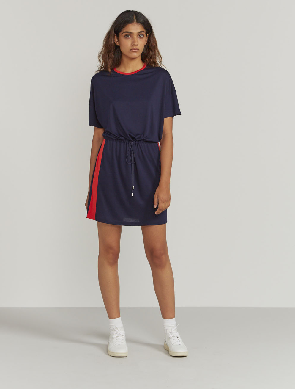 Side-stripe T-shirt dress