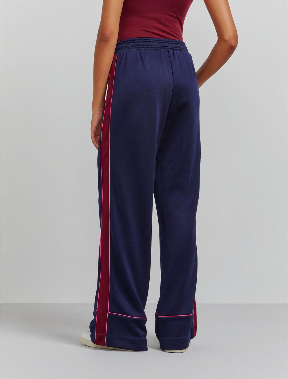 Wide-leg pyjama trackpants