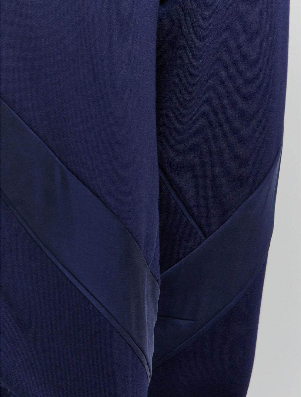 Peace silk panel sweatpants