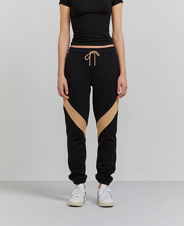 Organic cotton contrast panel sweatpants