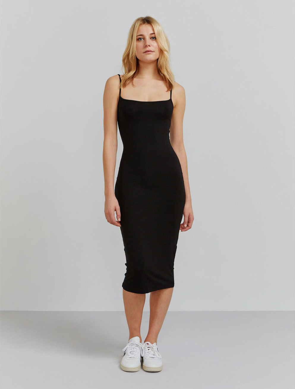 Tencel fitted cami dress