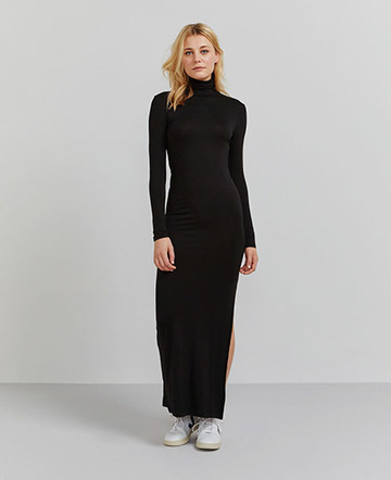Tencel roll neck maxi dress