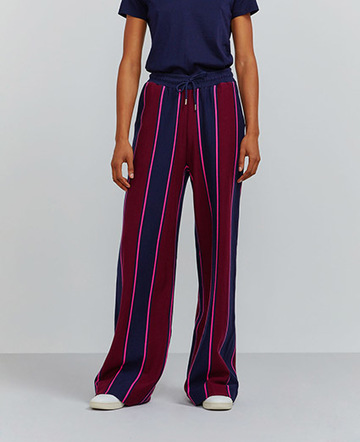 Organic cotton pyjama stripe sweatpants