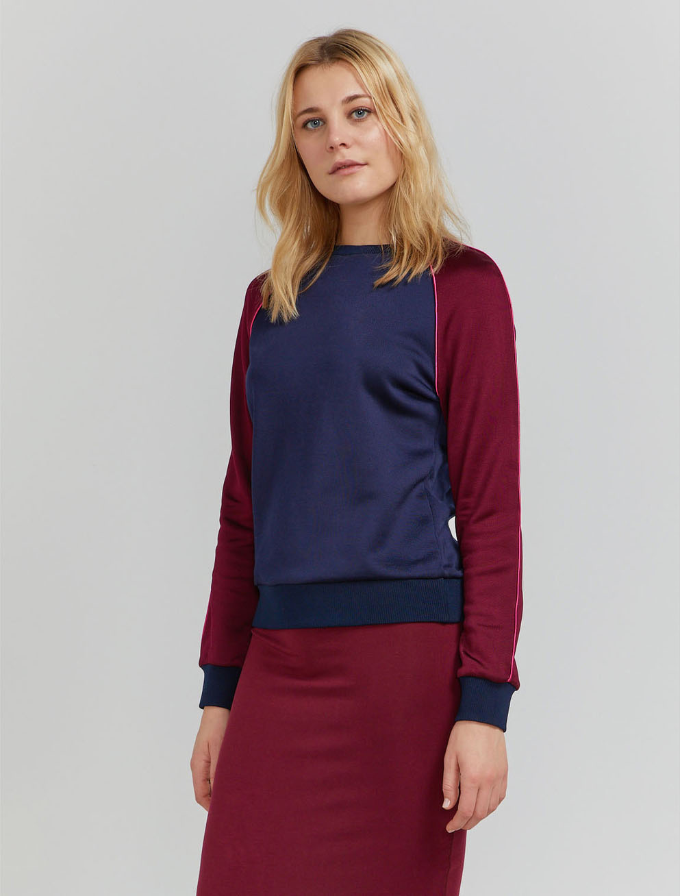 Contrast panel classic fit sweatshirt