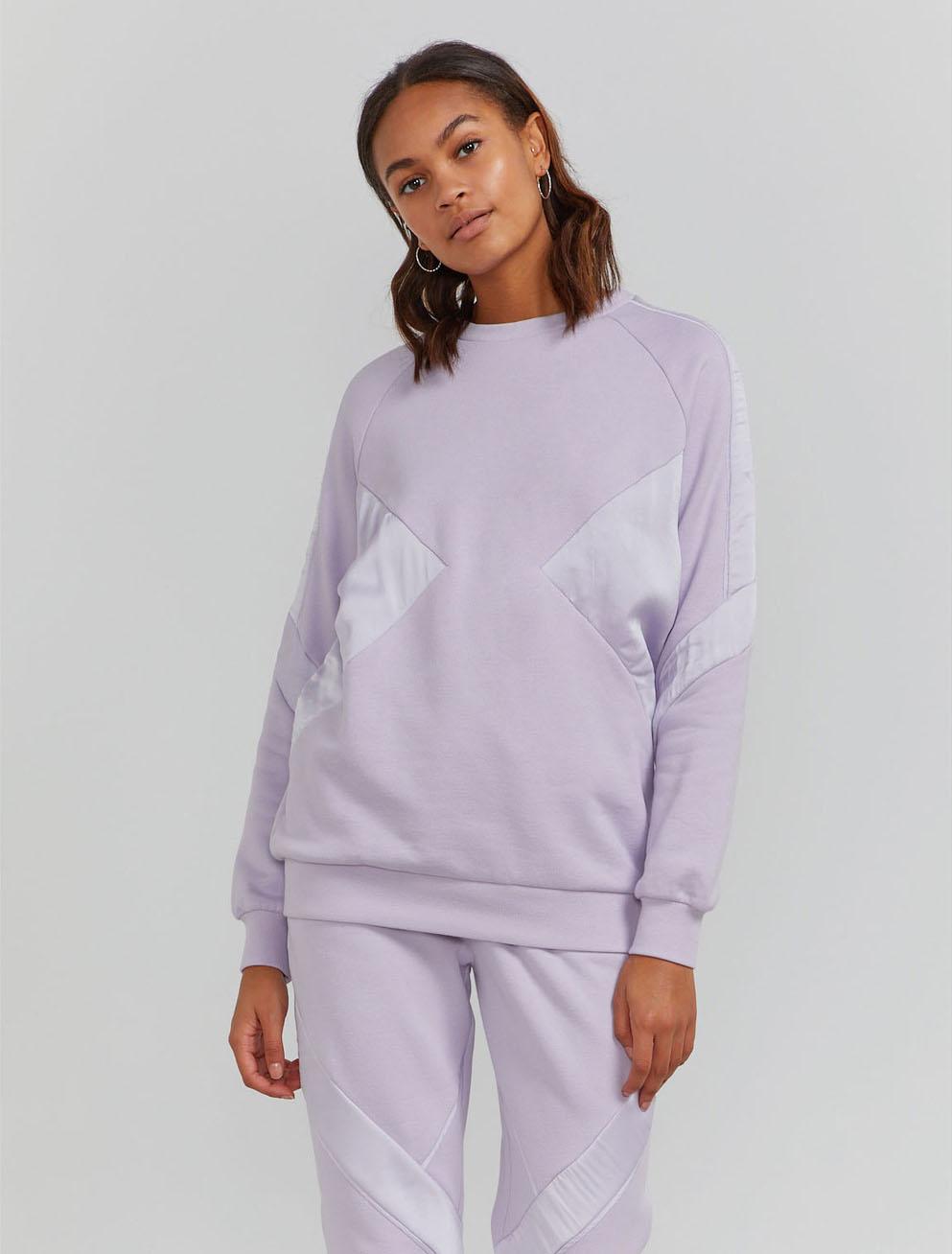 Peace silk panel boy-fit sweatshirt