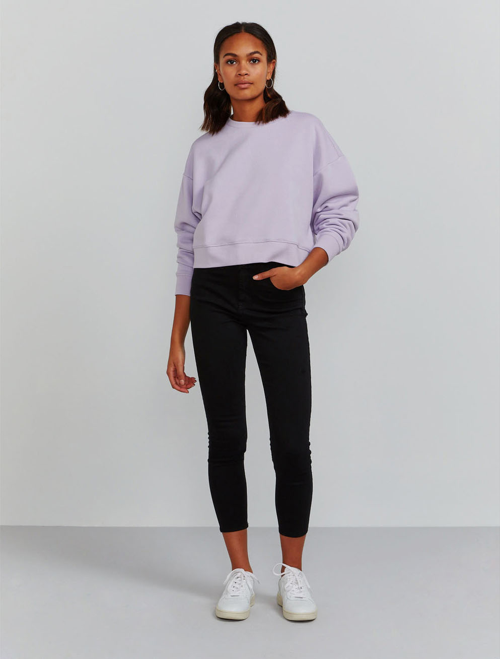 Organic cotton cropped sweatshirt