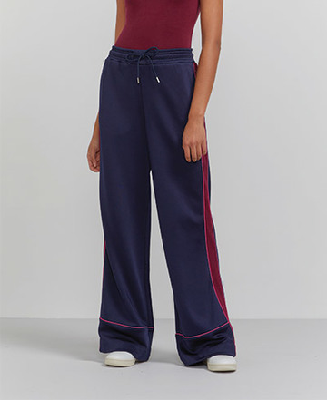 Wide-leg pyjama trackpants