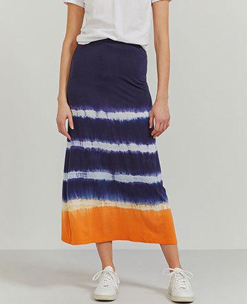 Tencel tie-dye maxi skirt