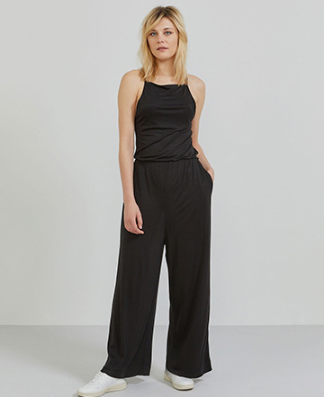 Tencel cross-back jumpsuit